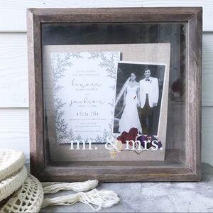 Mud Pie Wedding Wooden Shadow Box